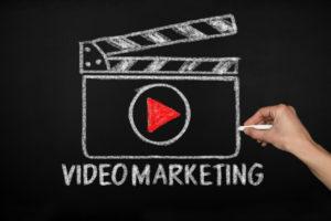 video marketing concept on blackboard